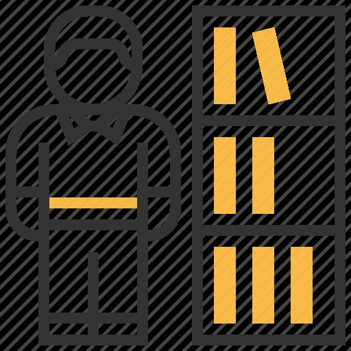 avatar, character, librarian, profession, profile, teacher, user icon