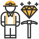 building, construction, industrial, miner, people, profession icon