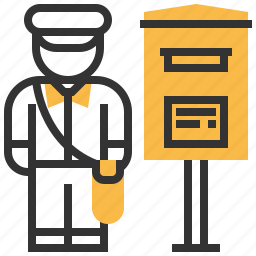 avatar, letter, mail, message, postman, profession icon