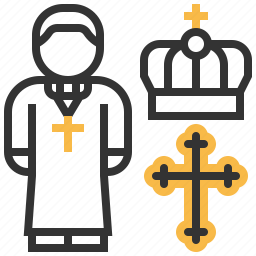 avatar, christian, cross, priest, profession, user icon