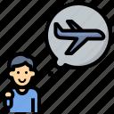 pilot, travel, airplane, fly, child, dream, steward