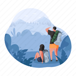 hobby, man, woman, travel, hiking