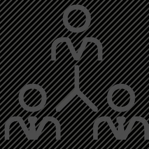 boss, businessman, hierarchy, job, man, organigram, people icon