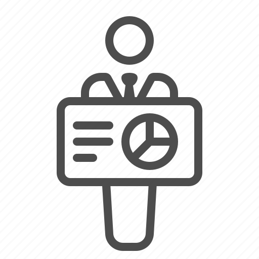 Chart, graph, holding, man, presentation, teacher, teaching icon - Download on Iconfinder