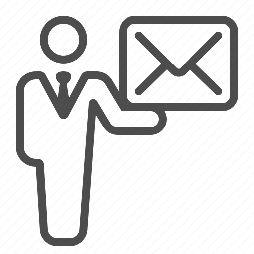 Communication, envelope, holding, letter, mail, man, message icon - Download on Iconfinder