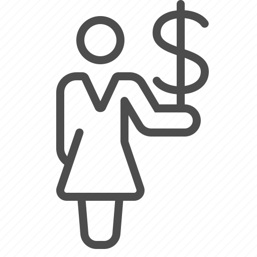 Buying, girl, money, paying, shopping, wealth, woman icon - Download on Iconfinder
