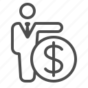 banker, banking, businessman, man, money, shopping, wealth icon