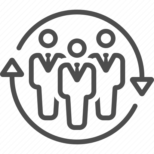 Arrows, businessman, group, man, people, team, teamwork icon - Download on Iconfinder