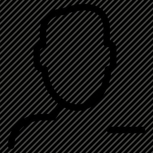 access, creative, delete, grid, line, minus, people, remote, remove, restrict, shape, unknown, user icon