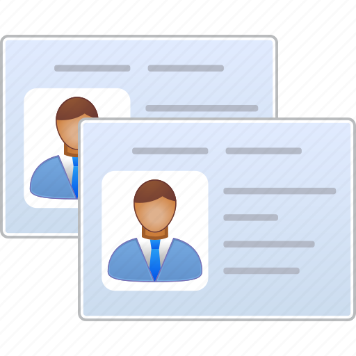 customer profile, file cabinet, manager, patient info, person, user account, user card icon