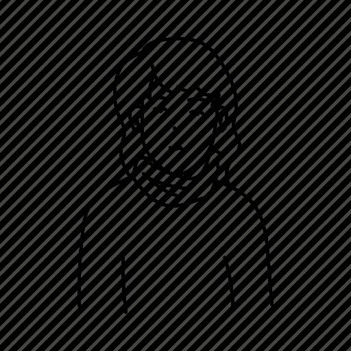 avatar, comic, fashion, people, profile, style, woman icon