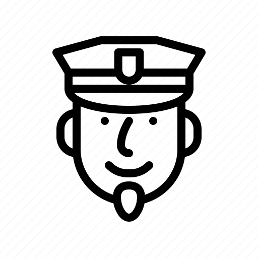 face, male, people, person, policeman, smiling icon