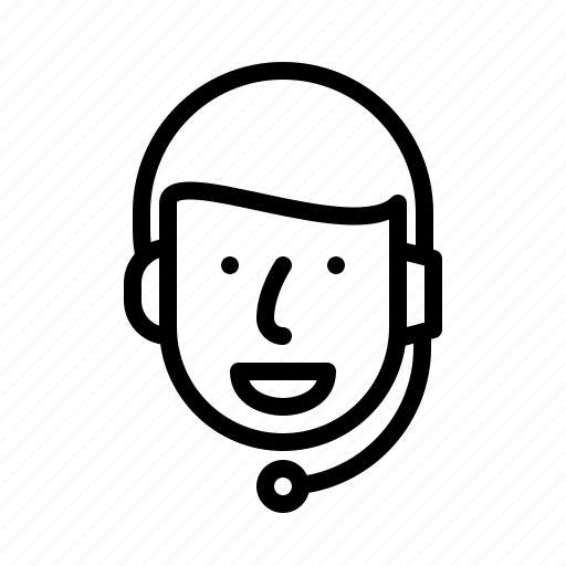 chat, face, headset, man, people, support, talking icon