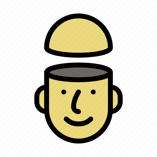 face, idea, male, man, open, people icon