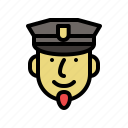 face, male, man, people, policeman, smiling icon