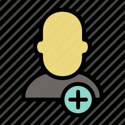 add, human, people, profile, shape, user icon