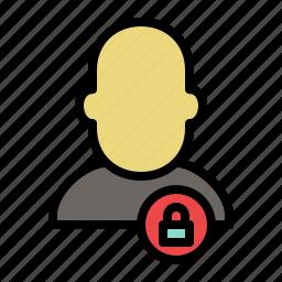 human, locked, people, profile, shape, user icon