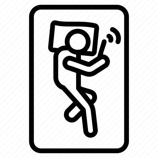 holding mobile, man using phone, mobile addiction, sleeping with phone, smartphone usage icon