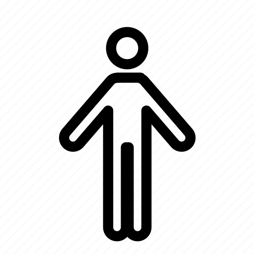 arms out, human, male, man, person icon