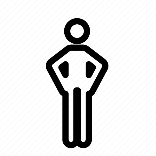 arms akimbo, human, male, man, person icon