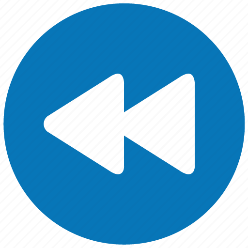 Blue, button, play, rewind, track icon | Icon search engine