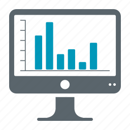 computer, mac, statistics, stats icon