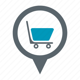 basket, buy, ecommerce, map, shop, shopping icon
