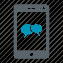 bubble, chat, comment, message, mobile, msg, phone, talk icon
