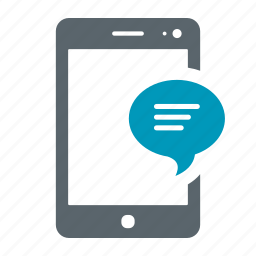 chat, communication, device, message, mobile, notification, smartphone, talk icon