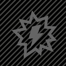 flash, high, lightning, power, result, success icon