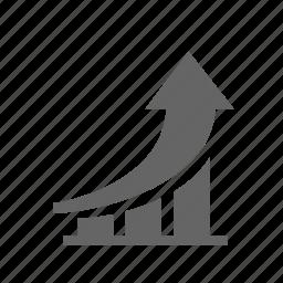 business, chart, growth, improvement, increase, performance, progress icon