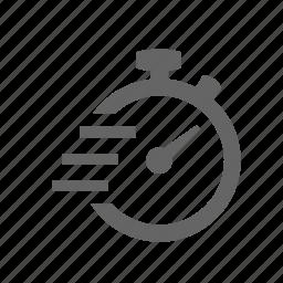 fast, high, lightning, power, rising, speed, timer icon