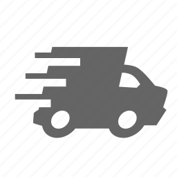 delivery, fast, high, lightning, performance, speed, van icon