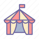 tent, circus, festival, carnival, entertainment, performance