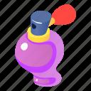 bottle, cosmetic, glass, isometric, object, perfume, purple