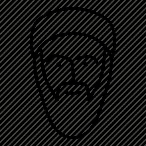 face, human, man, muslim, person, persona icon