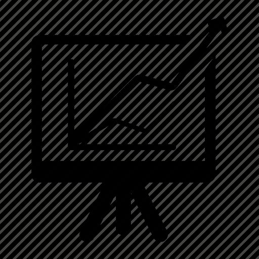 analytics, presentation, strategy icon