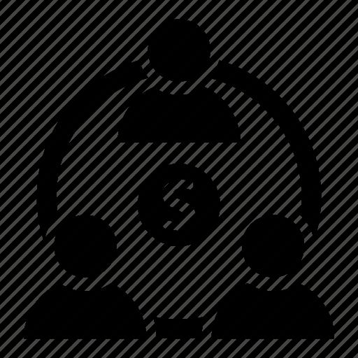building, investors, team work icon