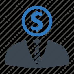 businessman, finance, investment, investor icon