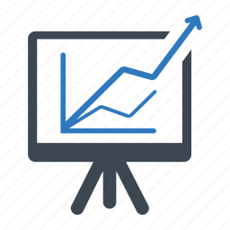 analytics, graph, presentation icon