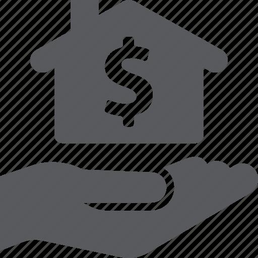home mortgage, loan, real estate icon
