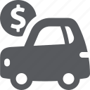auto loan, car, vehicle icon