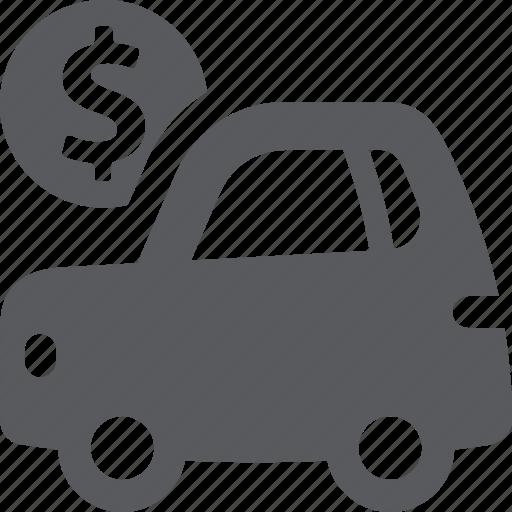 auto loan, car, vehicle icon