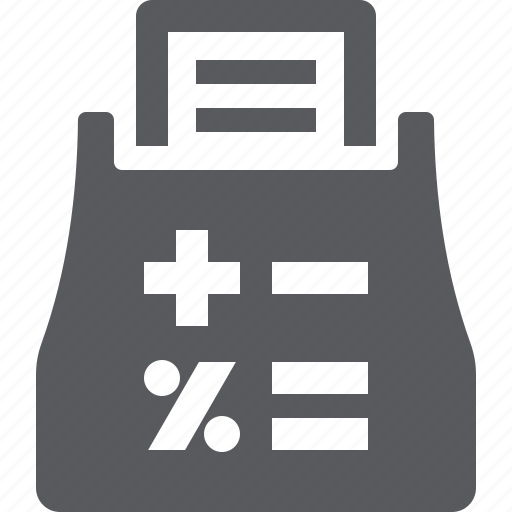 finance calculator, tax icon
