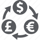 currency converter, exchange, finance, money transaction icon