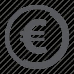 coin, euro, finance icon