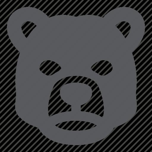 animal, bear, stock market icon
