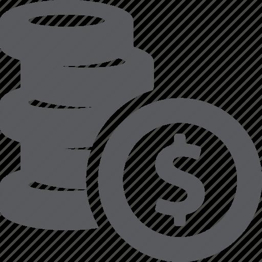 coins, fees, money icon