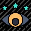 development, eye, look, star, views
