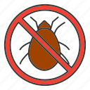 bug, control, insect, mite, parasite, pest, stop icon